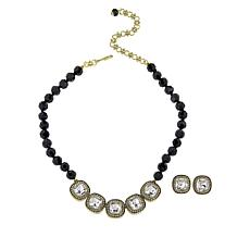 "Heidi Daus ""Captivating Cushion"" Necklace and Earring Set"