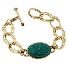 """Heidi Daus """"Chains and Cabs"""" Toggle Bracelet"""