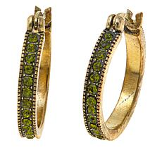 "Heidi Daus ""Chic Simplicity"" Crystal Hoop Earrings"