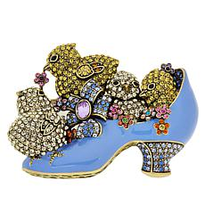 "Heidi Daus ""Chicks Love Shoes"" Crystal and Enamel Pin"