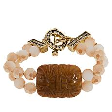 "Heidi Daus ""Chinois Classic"" Beaded 2-Strand Station Bracelet"