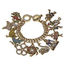 "Heidi Daus ""Christmas Count Down"" Crystal Charm Bracelet"
