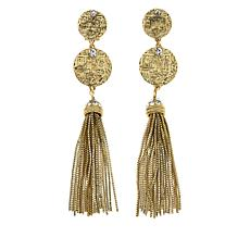 Heidi Daus Coin-Inspired Chain Tassel Earrings