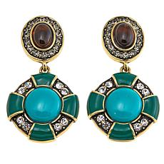 "Heidi Daus ""Cool Classic"" Crystal-Accented Drop Earrings"
