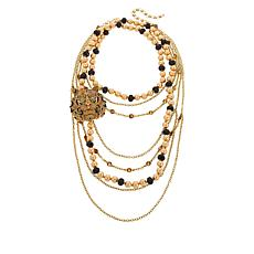 """Heidi Daus """"Couture Cascade"""" Necklace and Pin 3-piece Jewelry Set"""