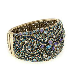 "Heidi Daus ""Couture in Bloom"" Hinged Bangle Bracelet"