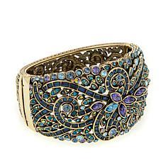 "Heidi Daus ""Couture in Bloom"" Hinged Bangle Bracelet"
