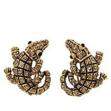 Heidi Daus Crocodile Crystal Earrings