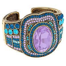"""Heidi Daus """"Crystal Magnetism"""" Hinged Cuff Bracelet"""