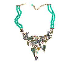 "Heidi Daus ""Dancing Damoiselle"" 2-Strand Beaded Crystal Drop Necklace"