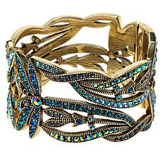 "Heidi Daus ""Dancing Dragonfly"" Crystal-Accented Hinged Bangle Bracelet"