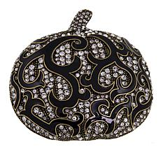 "Heidi Daus ""Dazzling Damask Pumpkin I"" Crystal and Enamel Pin"