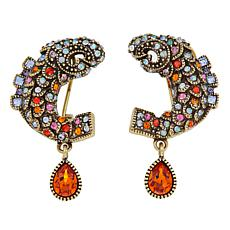 "Heidi Daus ""Dazzling Dragon Koi"" Crystal Drop Earrings"