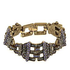 "Heidi Daus ""Decidedly Dapper"" Crystal Link Bracelet"