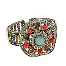"Heidi Daus ""Deco-Page"" Bead and Crystal Cuff Bracelet"