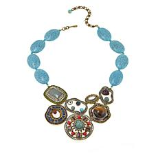 "Heidi Daus ""Deco-Page"" Bead and Crystal Drop Necklace"