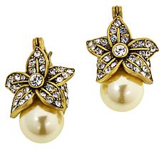 "Heidi Daus ""Delicate Rapture"" Simulated Pearl Earrings"