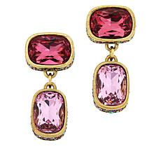 "Heidi Daus ""Double Play"" Crystal Drop Earrings"