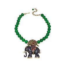 "Heidi Daus ""Elephant on Display""  Drop Necklace"