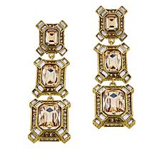 "Heidi Daus ""Estate Splendor"" Crystal Earrings"