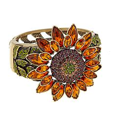 "Heidi Daus ""Fabulous Sunflower"" Crystal Bangle Bracelet"
