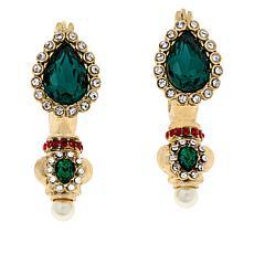 """Heidi Daus """"Fancy Lady, Fancy That"""" Crystal Drop Earrings"""