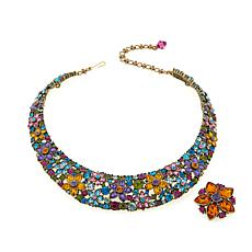 "Heidi Daus ""Fantasy in Florals"" Necklace & Pendant/Pin"