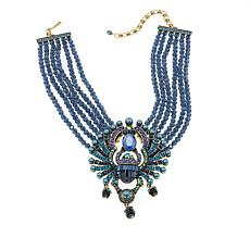"Heidi Daus ""Far Cry From Shy"" 6-Row Beaded Crystal Drop Necklace"