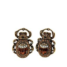 "Heidi Daus ""Far Cry From Shy"" Crystal Earrings"