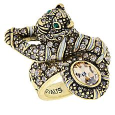 "Heidi Daus ""Feline Fabulous"" Crystal-Accented Statement Ring"