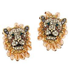 """Heidi Daus """"Feline Wrapture"""" Crystal Stud Earrings"""