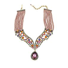 "Heidi Daus ""Femmeistia"" 6-Strand Beaded Crystal Drop Necklace"
