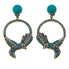"Heidi Daus ""Fly Fly Away"" Crystal Drop Earrings"