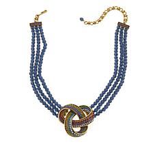 "Heidi Daus ""Forget Me Knot"" 3-Strand Drop Necklace"