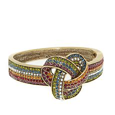 "Heidi Daus ""Forget Me Knot"" Crystal Bangle Bracelet"