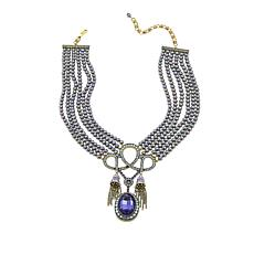 "Heidi Daus ""French Flair"" Beaded Crystal Drop Necklace"