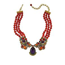 "Heidi Daus ""Gotta Love It"" Beaded Crystal Drop Necklace"