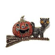 "Heidi Daus ""Happy Halloween"" Crystal Pin"