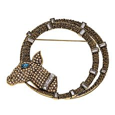 "Heidi Daus ""Haute Horns"" Crystal Pin"