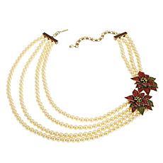 "Heidi Daus ""Holiday Corsage"" 4-Strand Beaded Crystal Necklace"
