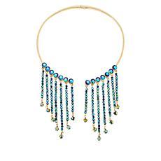 "Heidi Daus ""Icing Fringe"" 16"" Hinged Tassel Collar Necklace"