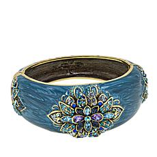 "Heidi Daus ""Ideal Beauty"" Enamel and Crystal Bangle Bracelet"