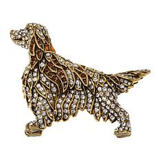 "Heidi Daus ""Irish Setter"" Crystal Pin"