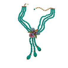 "Heidi Daus ""Island Bloom"" Beaded 3-Strand Drop Necklace"