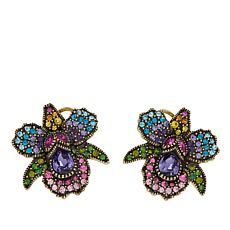 "Heidi Daus ""Island Bloom"" Crystal-Accented Earrings"