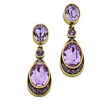 "Heidi Daus ""La Bella"" Crystal Drop Earrings"