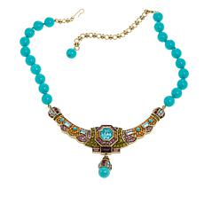 "Heidi Daus ""Lavish Layers"" Beaded Crystal Drop Necklace"