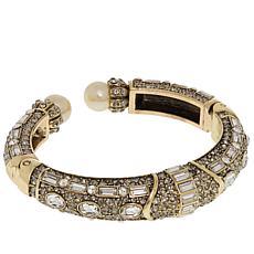 "Heidi Daus ""Lavish Layers"" Crystal-Accented Cuff Bracelet"