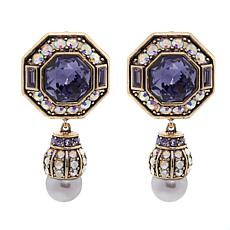 "Heidi Daus ""Lavish Layers"" Crystal Drop Earrings"