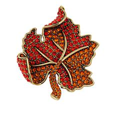 "Heidi Daus ""Lavish Leaf"" Crystal Pin"